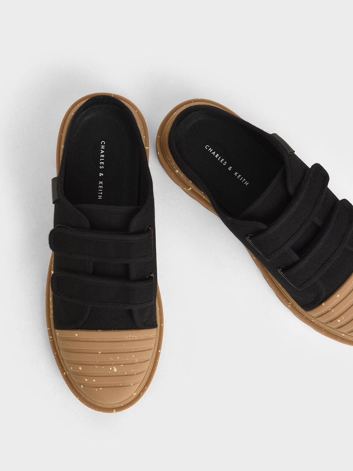The Purpose Collection - Velcro Strap Sneaker Mules, Black, hi-res