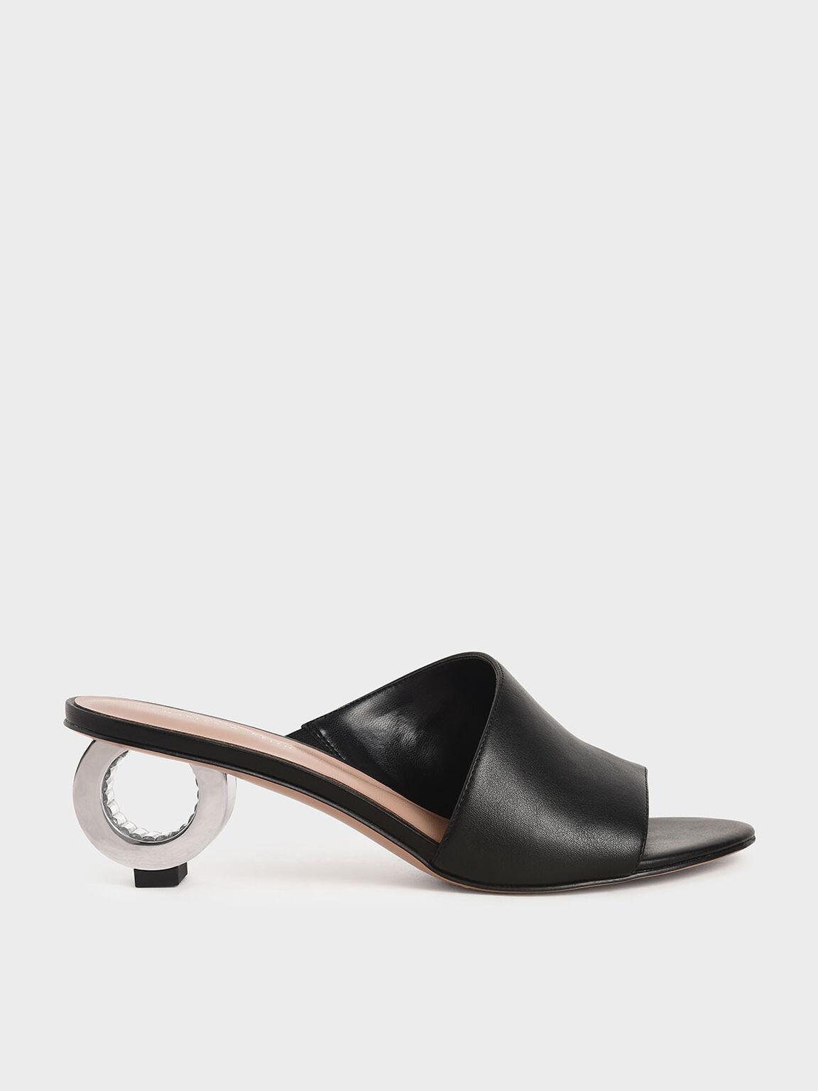 圓環跟拖鞋, 黑色, hi-res