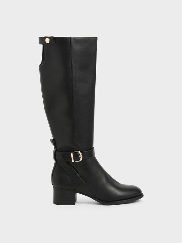 Riding Boots, Black, hi-res