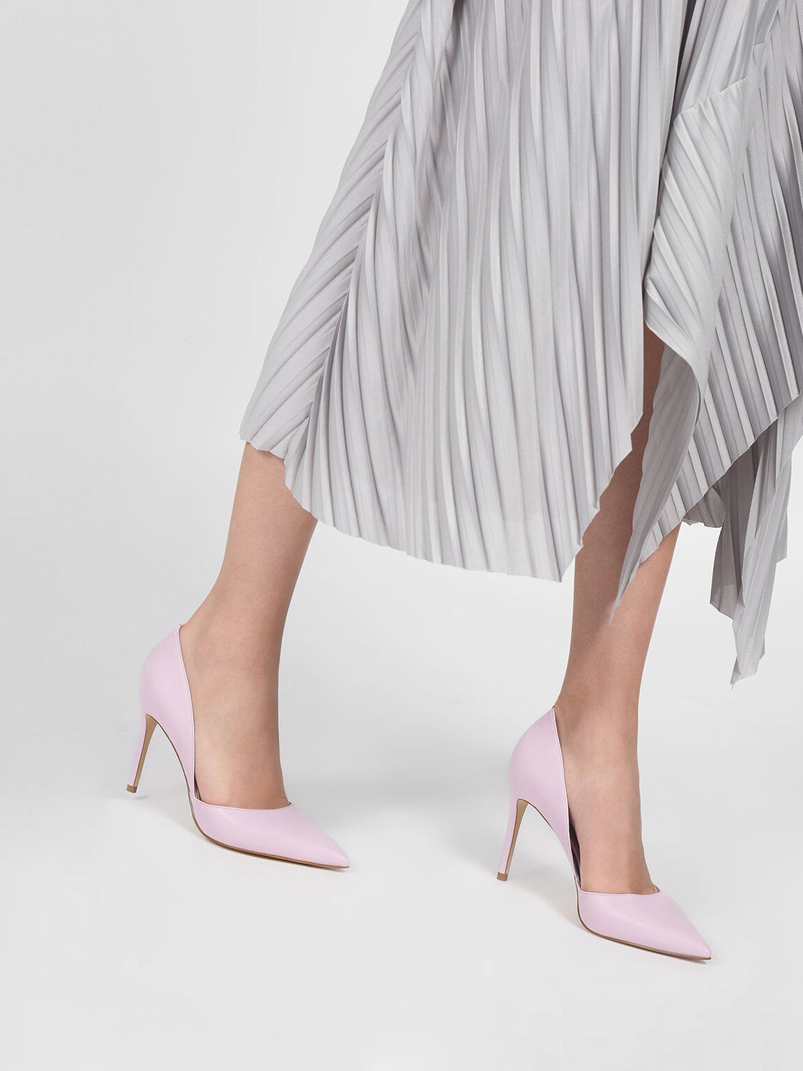 Pointed D'orsay Heels, Lilac, hi-res