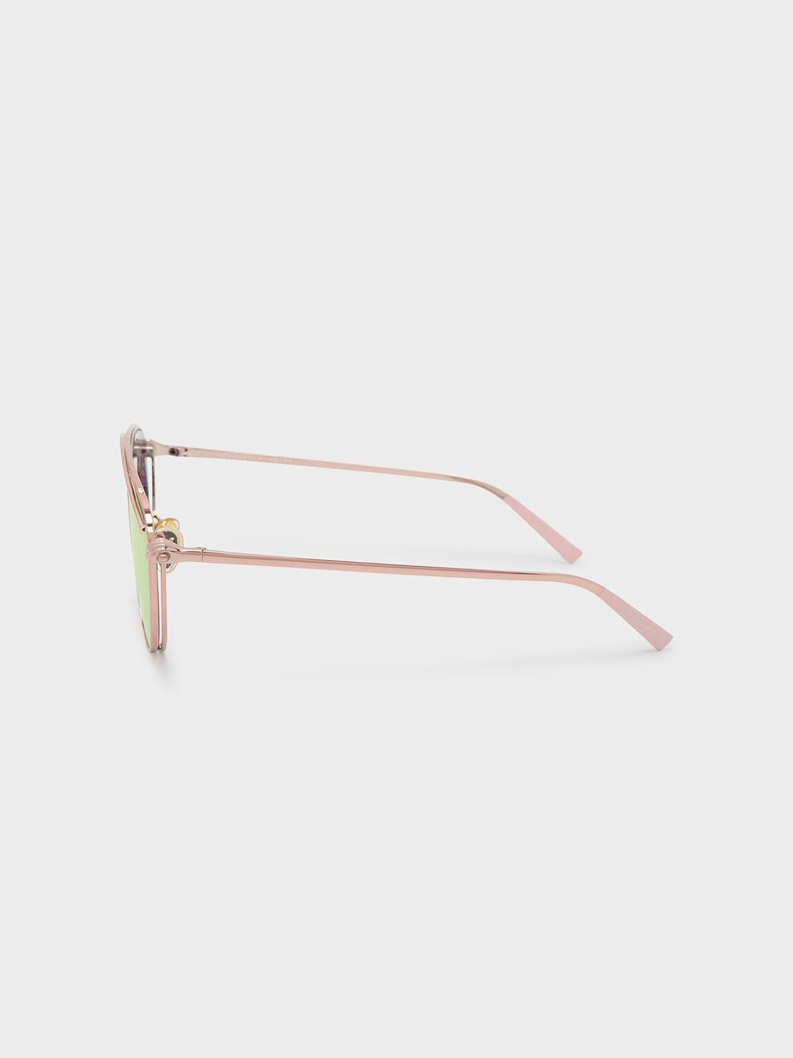Wire Frame Aviators, Rose Gold, hi-res