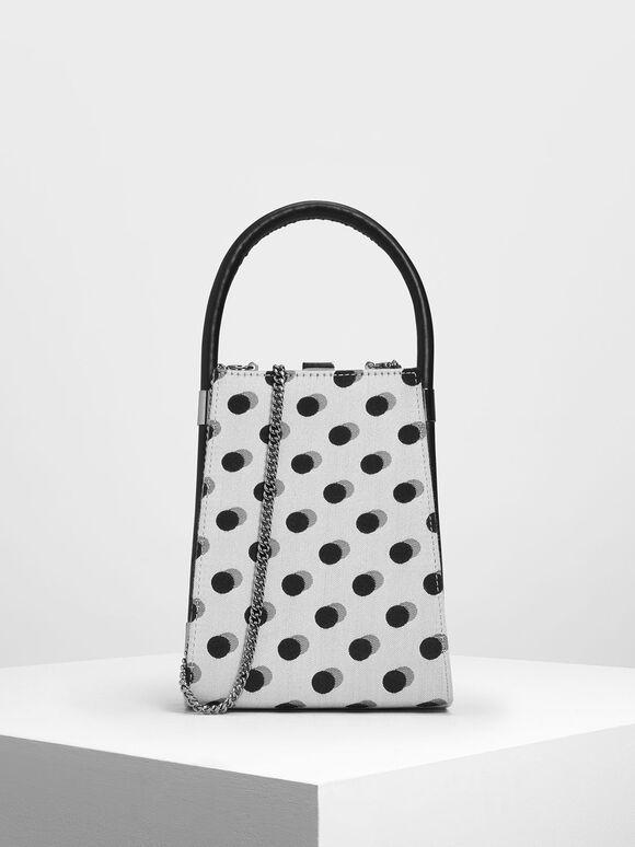 Jacquard Angular Bag, Multi, hi-res