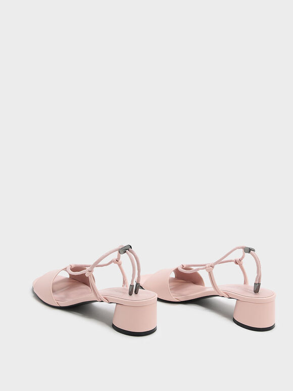 Drawstring Sandals, Pink, hi-res