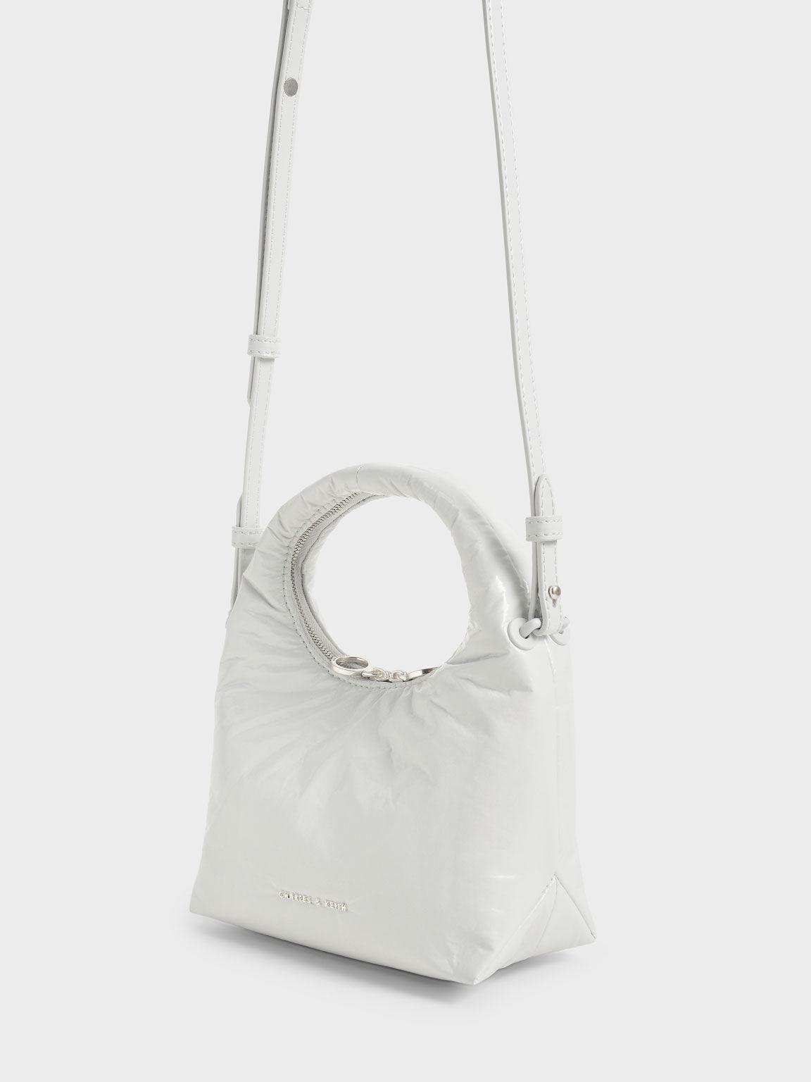 迷你手提枕頭包, 白色, hi-res