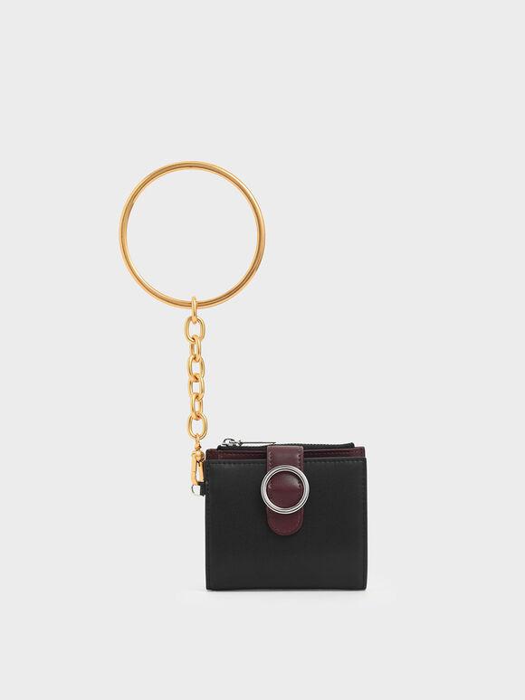 Small Bracelet Wallet, Black, hi-res