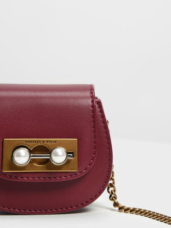 Mini Horseshoe Key Pouch, Prune, hi-res