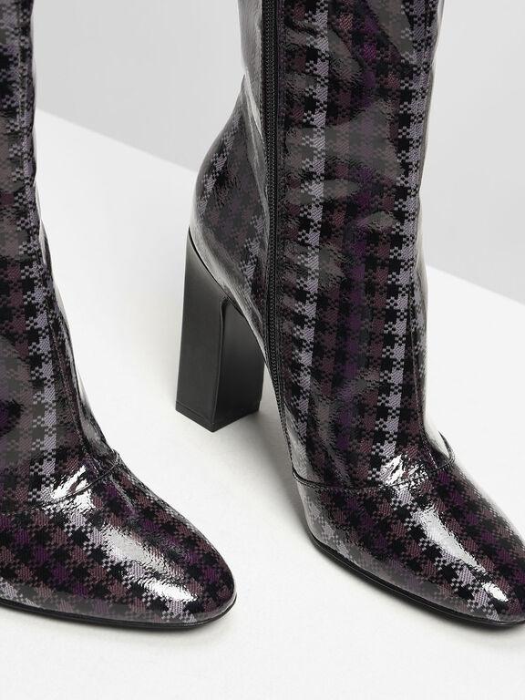 Classic Knee Boots, Purple