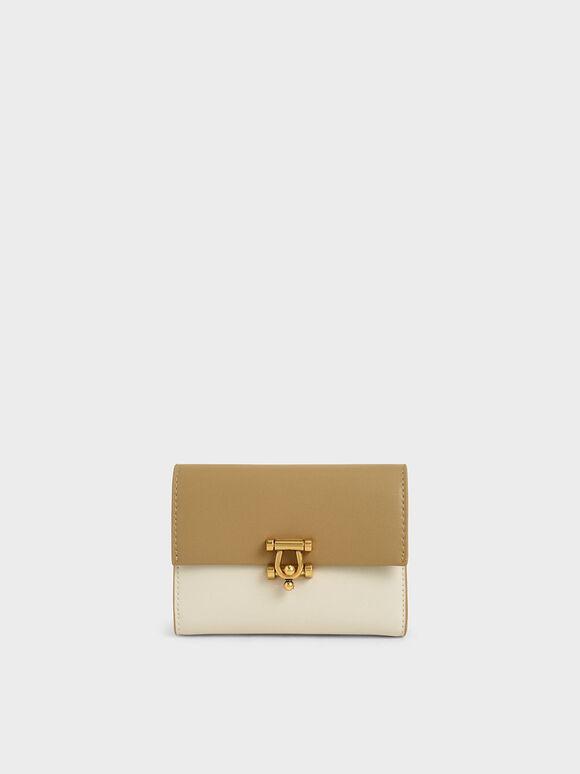 Metal Accent Mini Short Wallet, Multi, hi-res