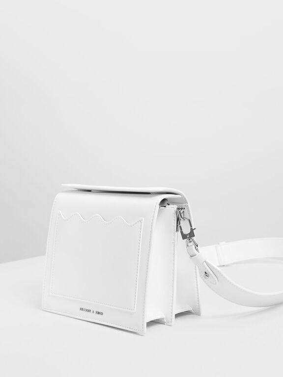 Window Crossbody Bag, White
