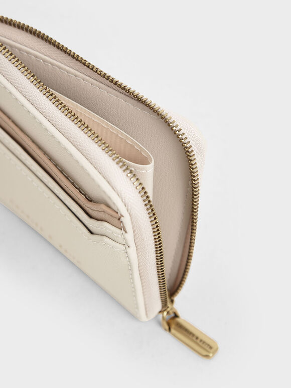 Two-Tone Zip Around Card Holder, Multi, hi-res