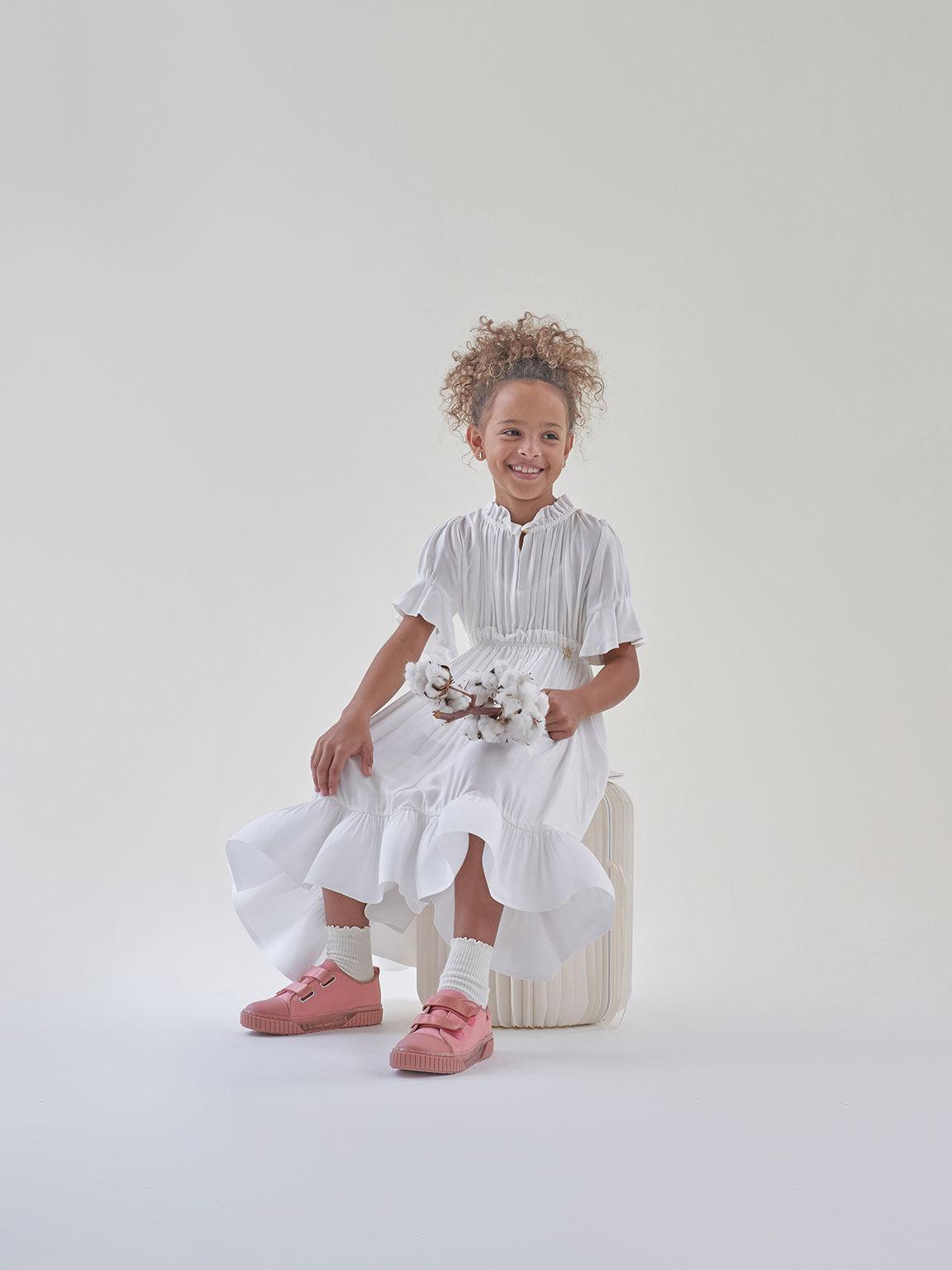 實踐系列:兒童有機帆布餅乾鞋, 粉紅色, hi-res