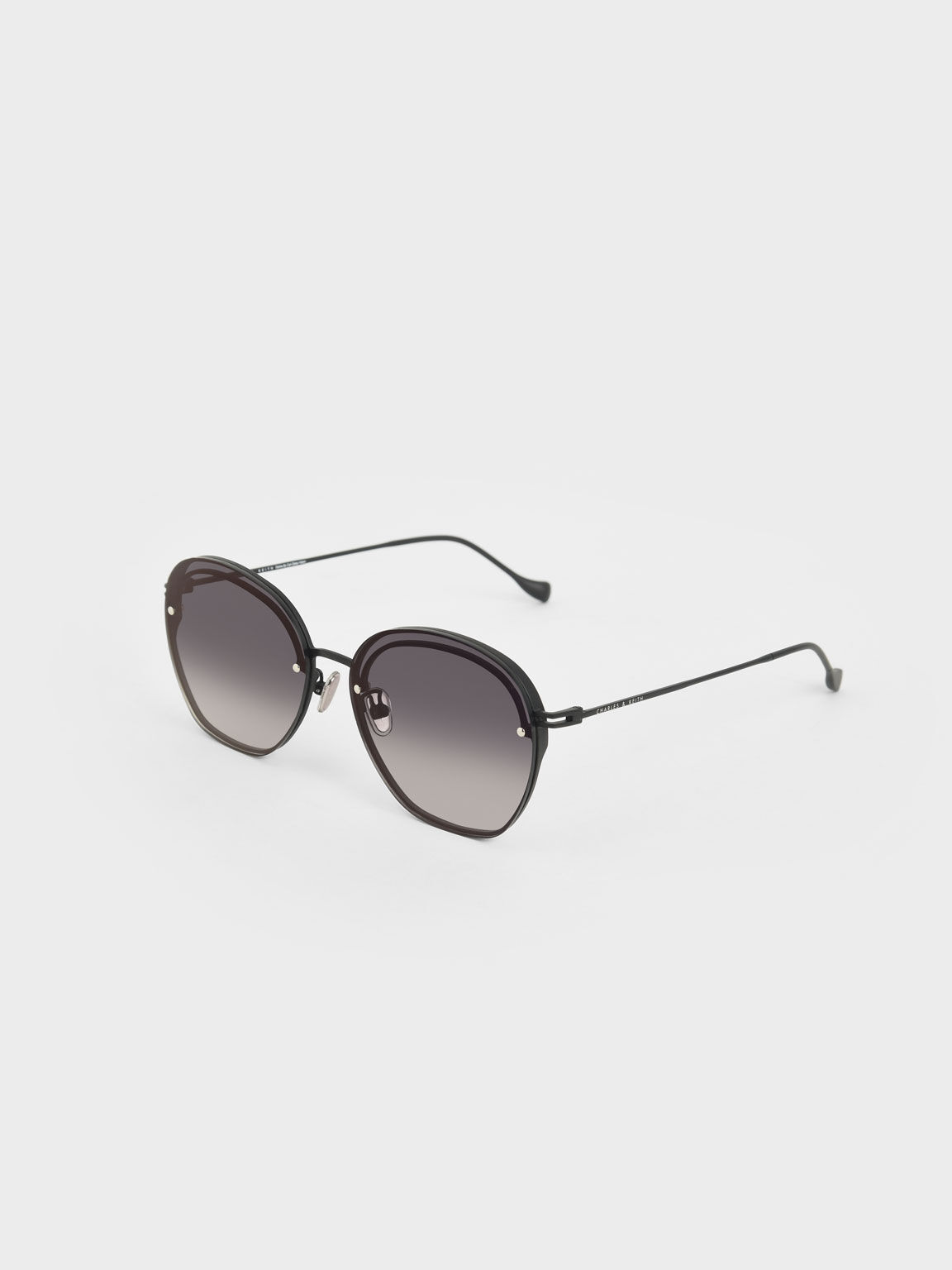 Wire Frame Butterfly Sunglasses, Black, hi-res