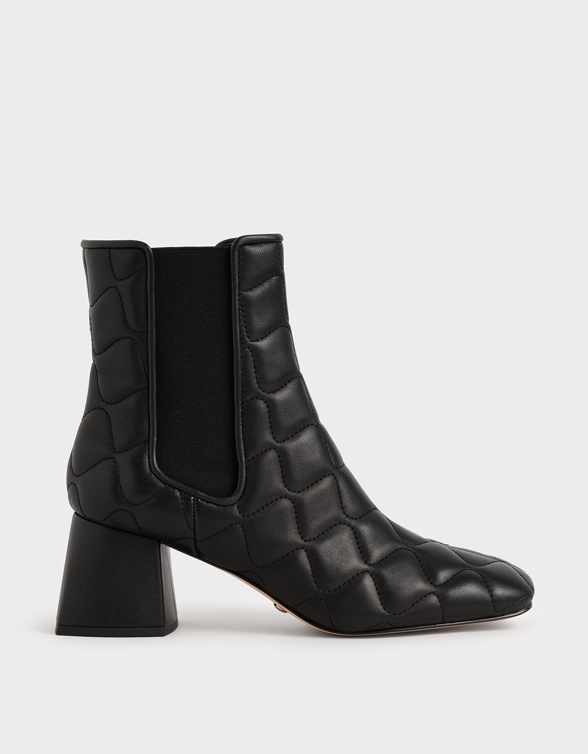 Black Quilted Leather Chelsea Boots