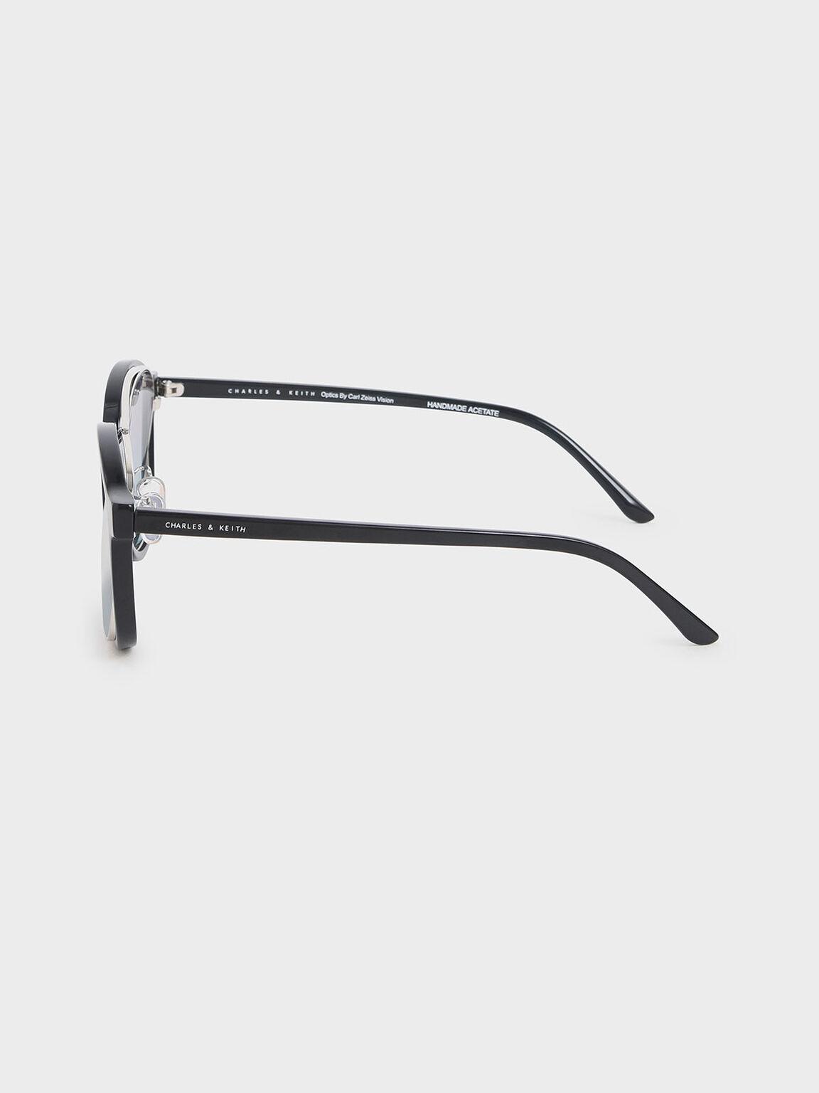 Gradient Tint Round Sunglasses, Black, hi-res