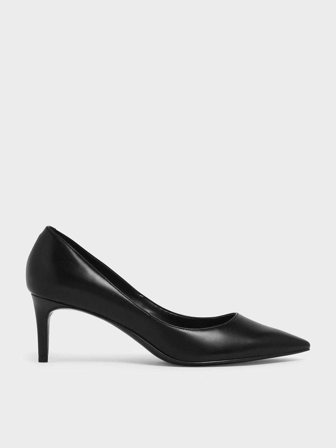 Classic Pointed Toe Pumps, Black, hi-res
