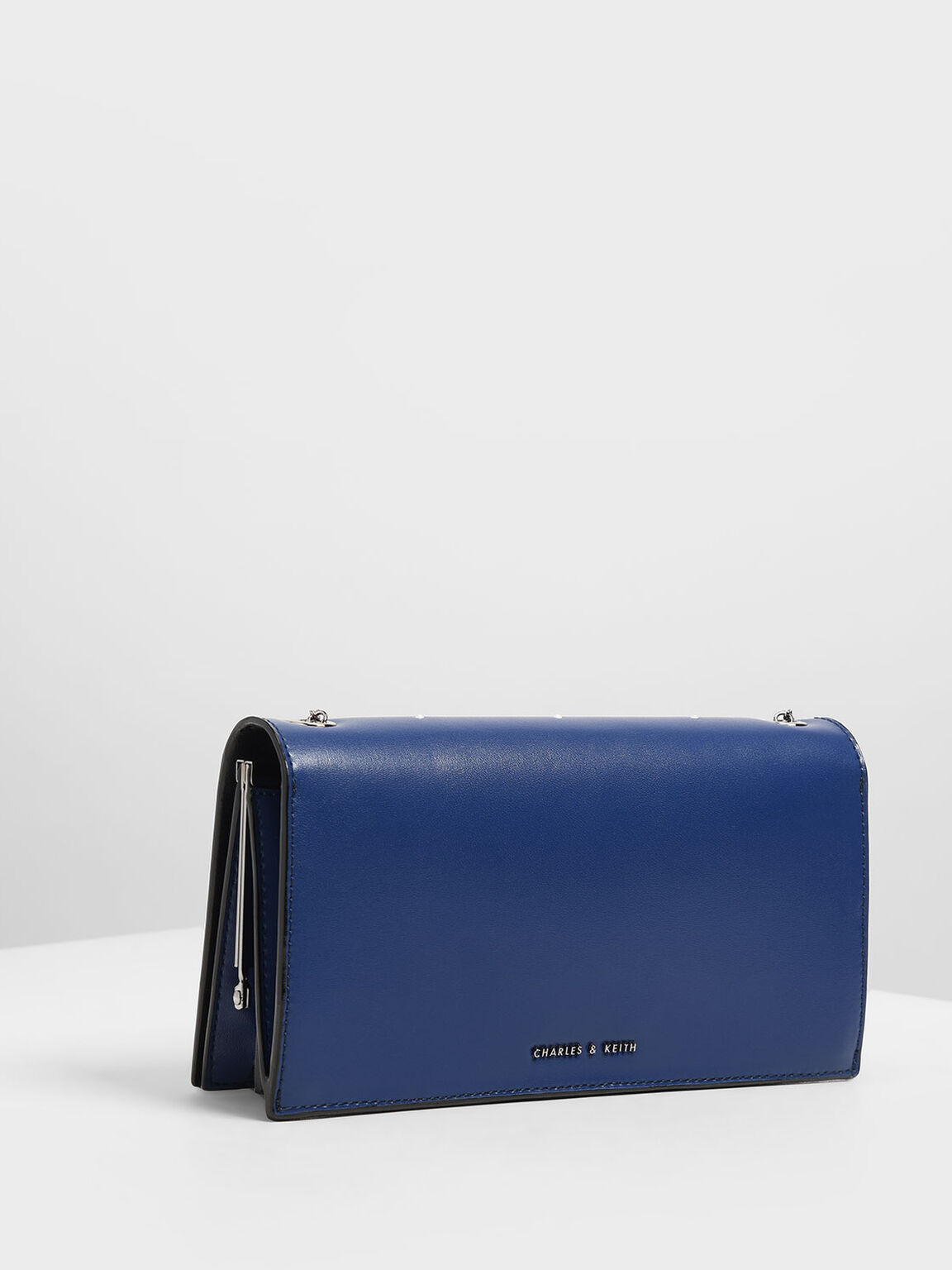 Gem Encrusted Clutch, Blue, hi-res