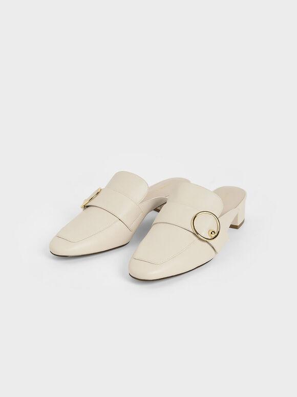 金屬環穆勒鞋, 石灰白, hi-res