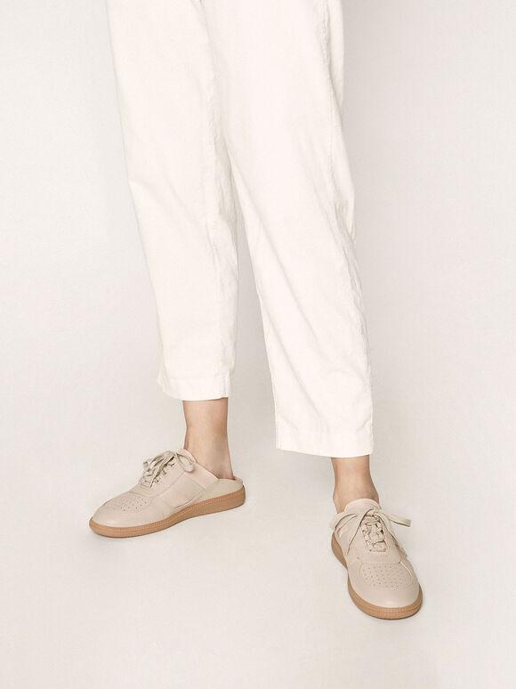 休閒鞋帶懶人鞋, 膚色, hi-res