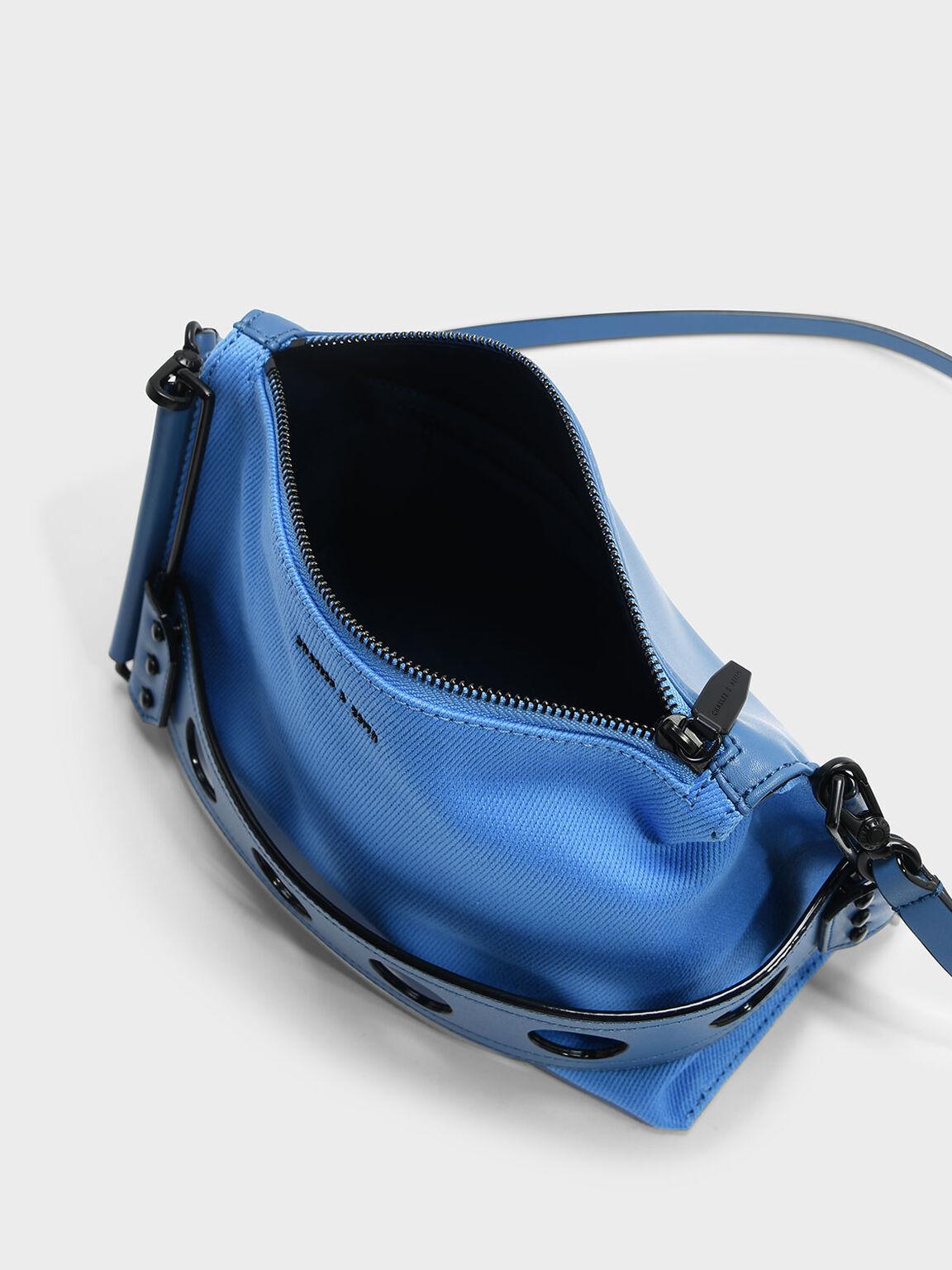 Cut Out Detail Clutch, Blue, hi-res