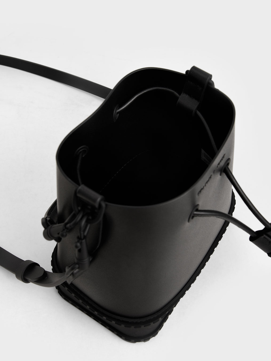 드로스트링 버킷 백, 블랙, hi-res