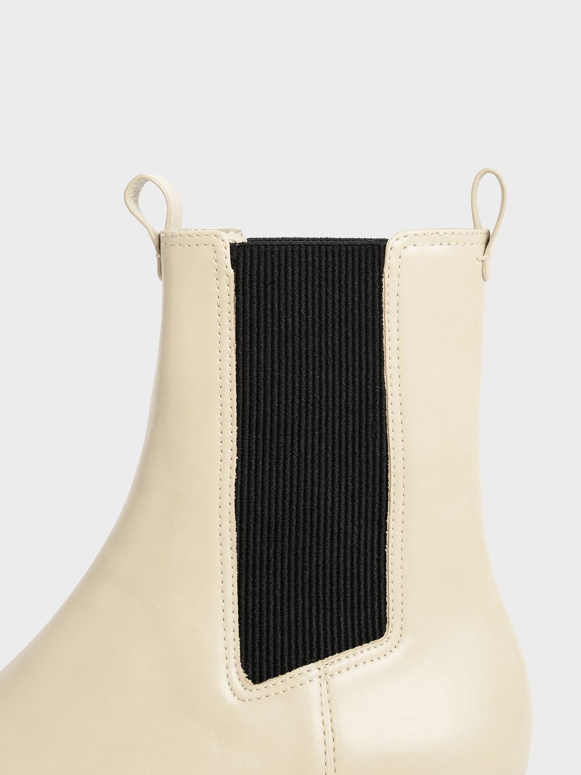 Platform Chelsea Boots, Sand, hi-res