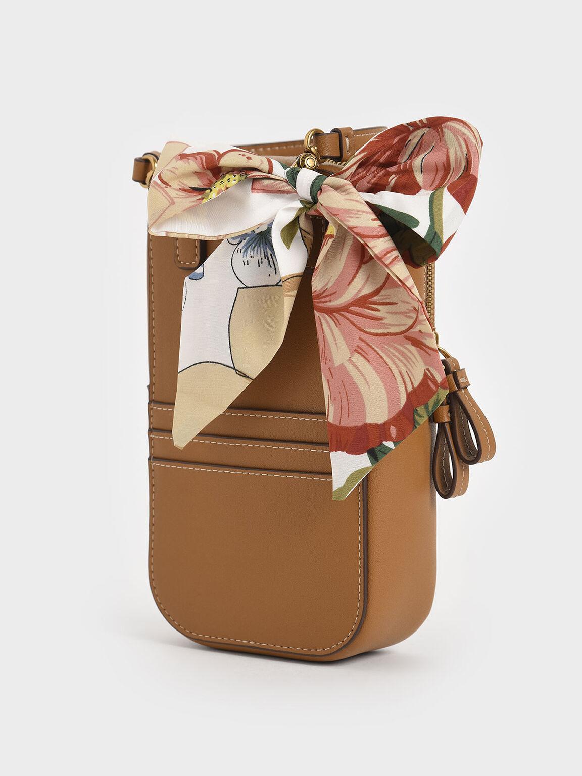 絲巾小收納包, 駝色, hi-res