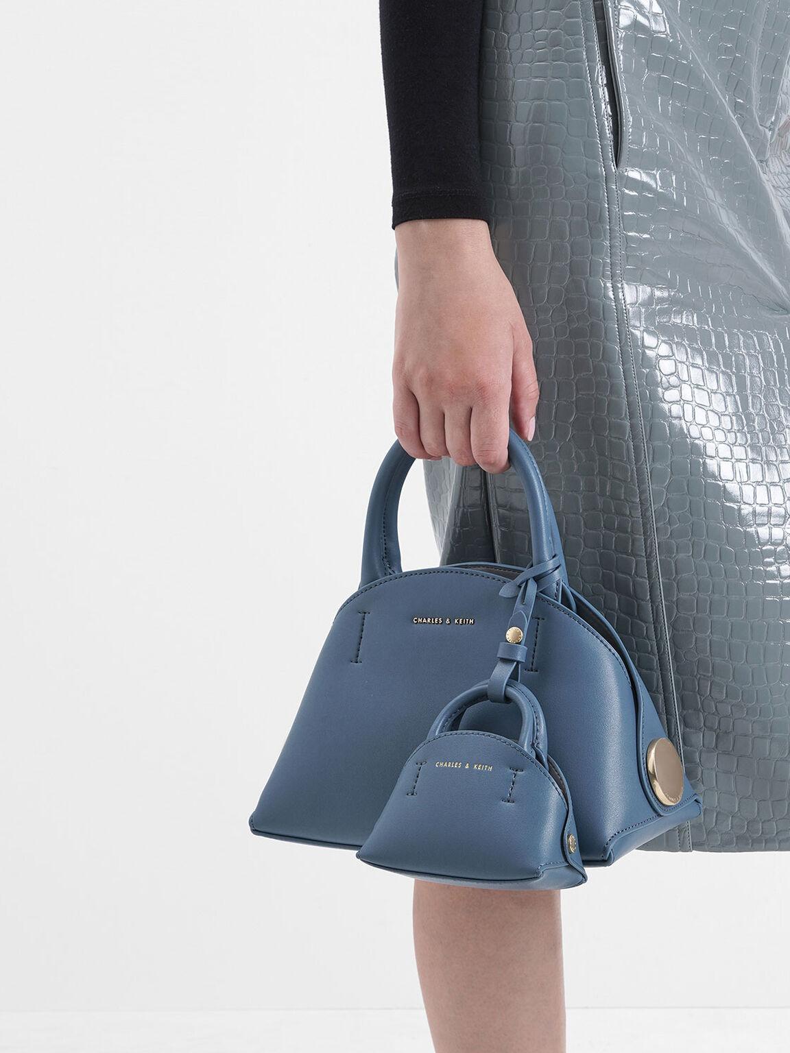 Top Handle Dome Bag, Blue, hi-res