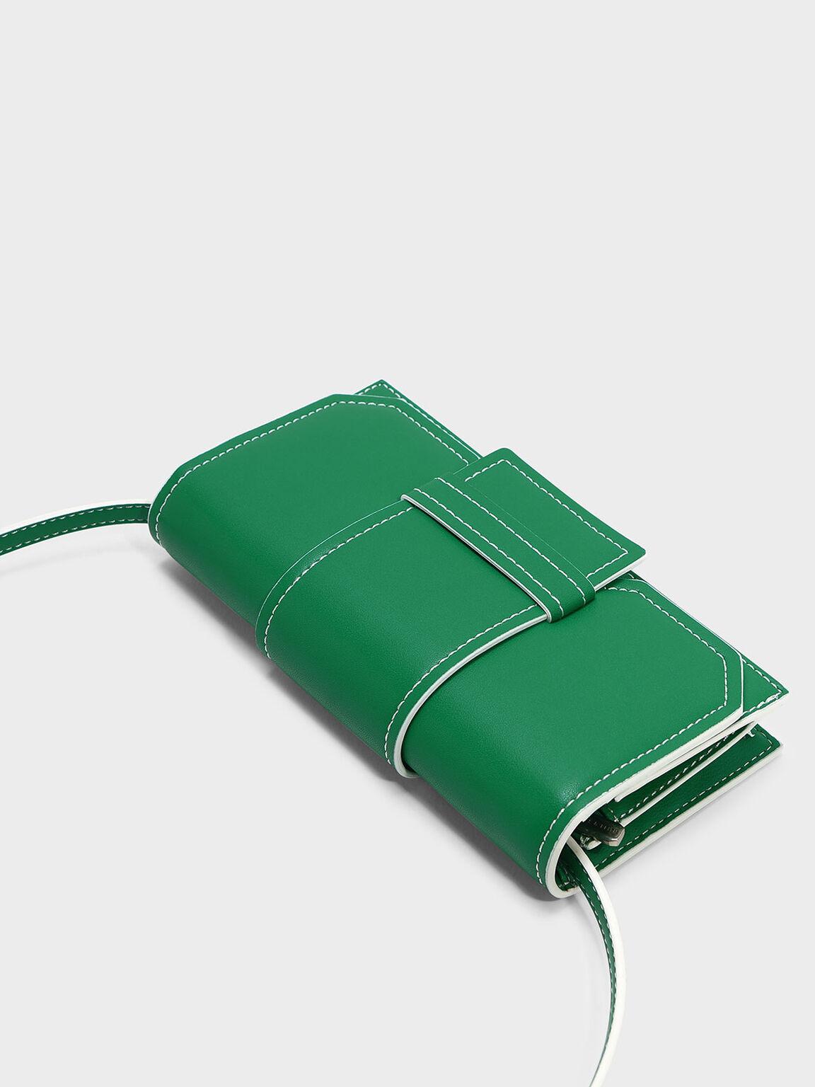 Front Flap Wallet, Green, hi-res