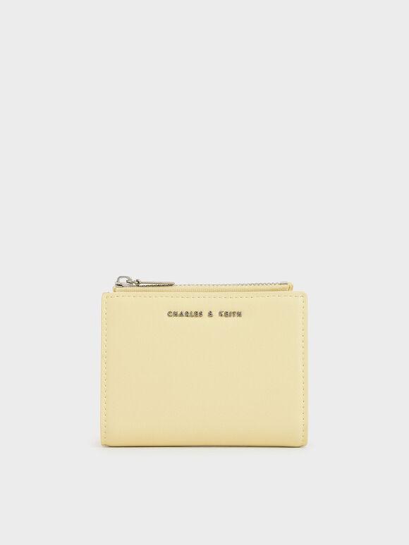 Mini Top Zip Small Wallet, Butter, hi-res