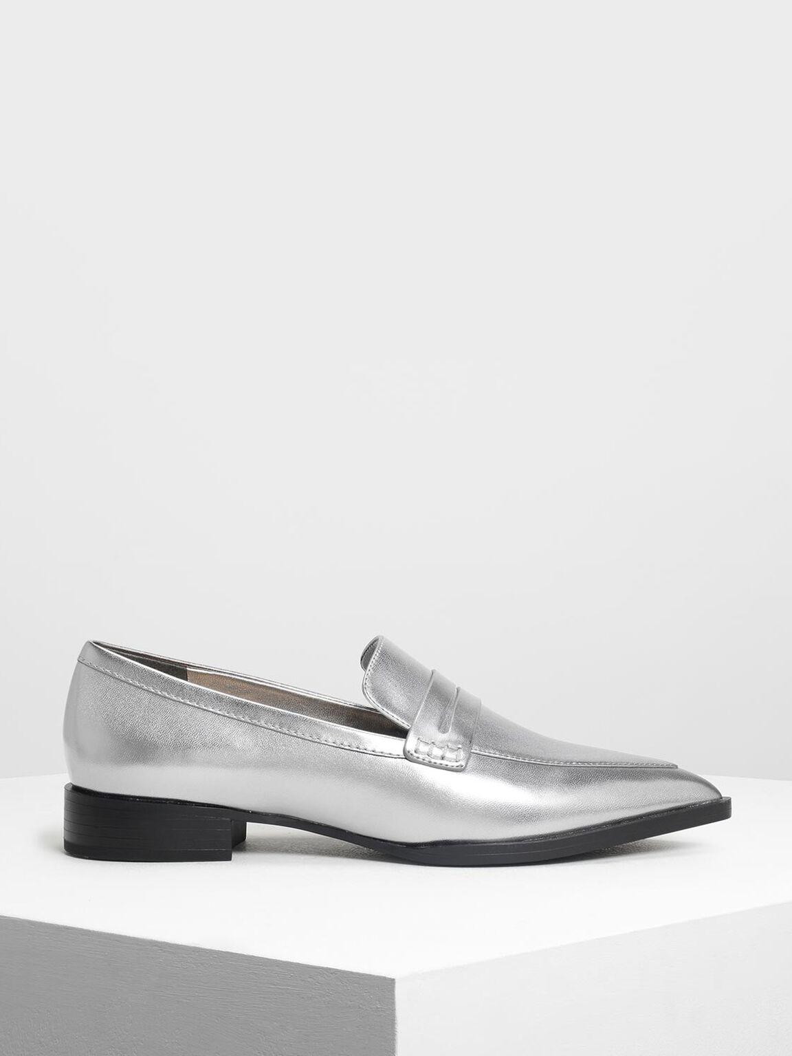 尖頭樂福鞋, 銀色, hi-res