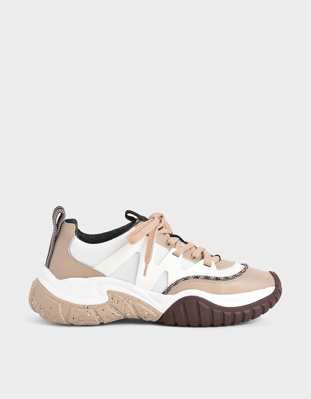 Nude Mesh \u0026 Netting Chunky Sneakers