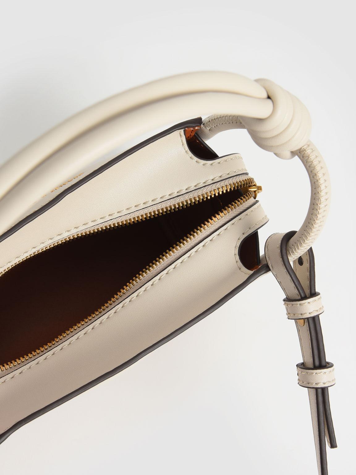繩索手提方包, 奶油色, hi-res