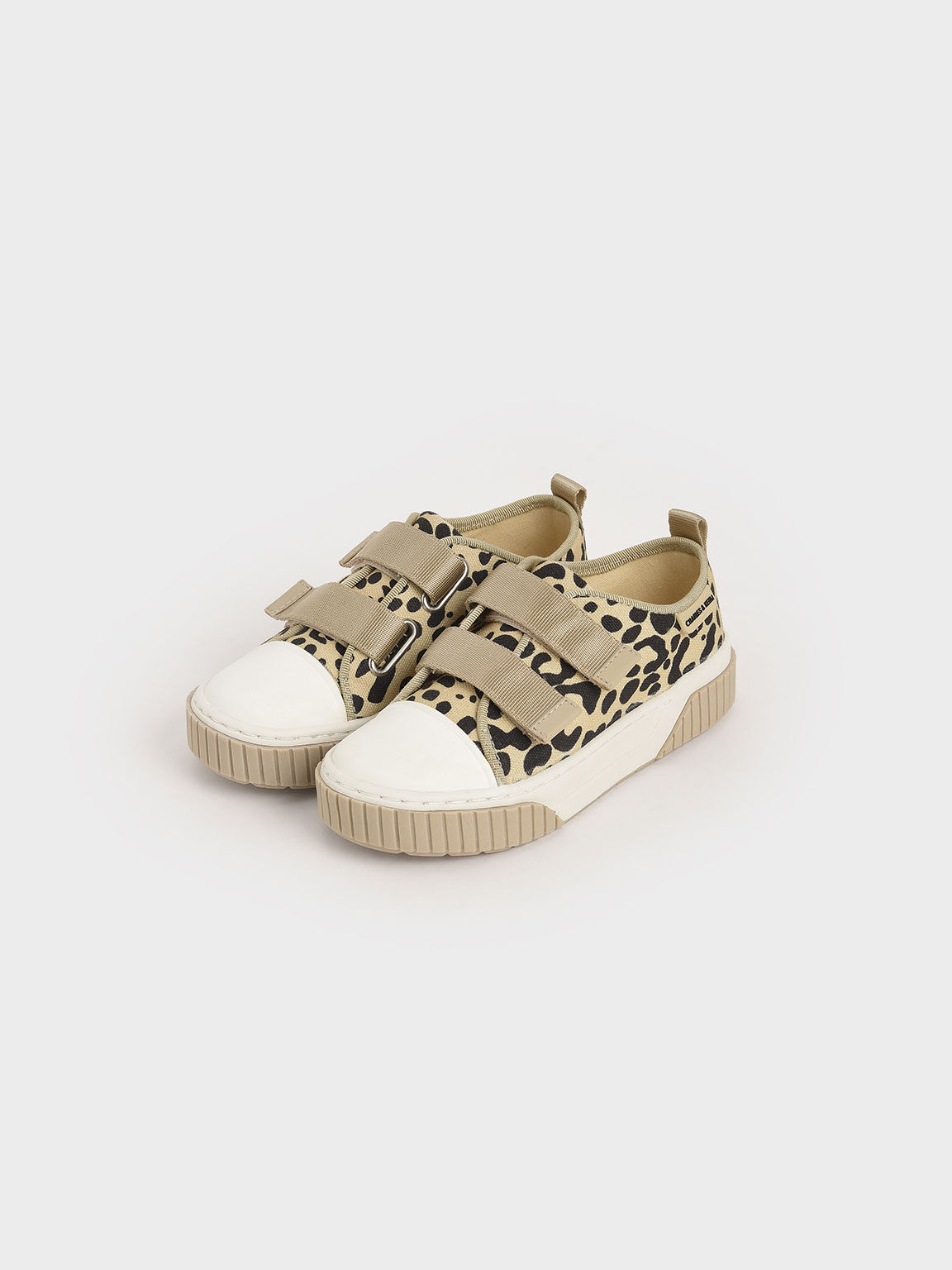 Purpose Collection 2021: Girls' Organic Cotton Sneakers, Beige, hi-res