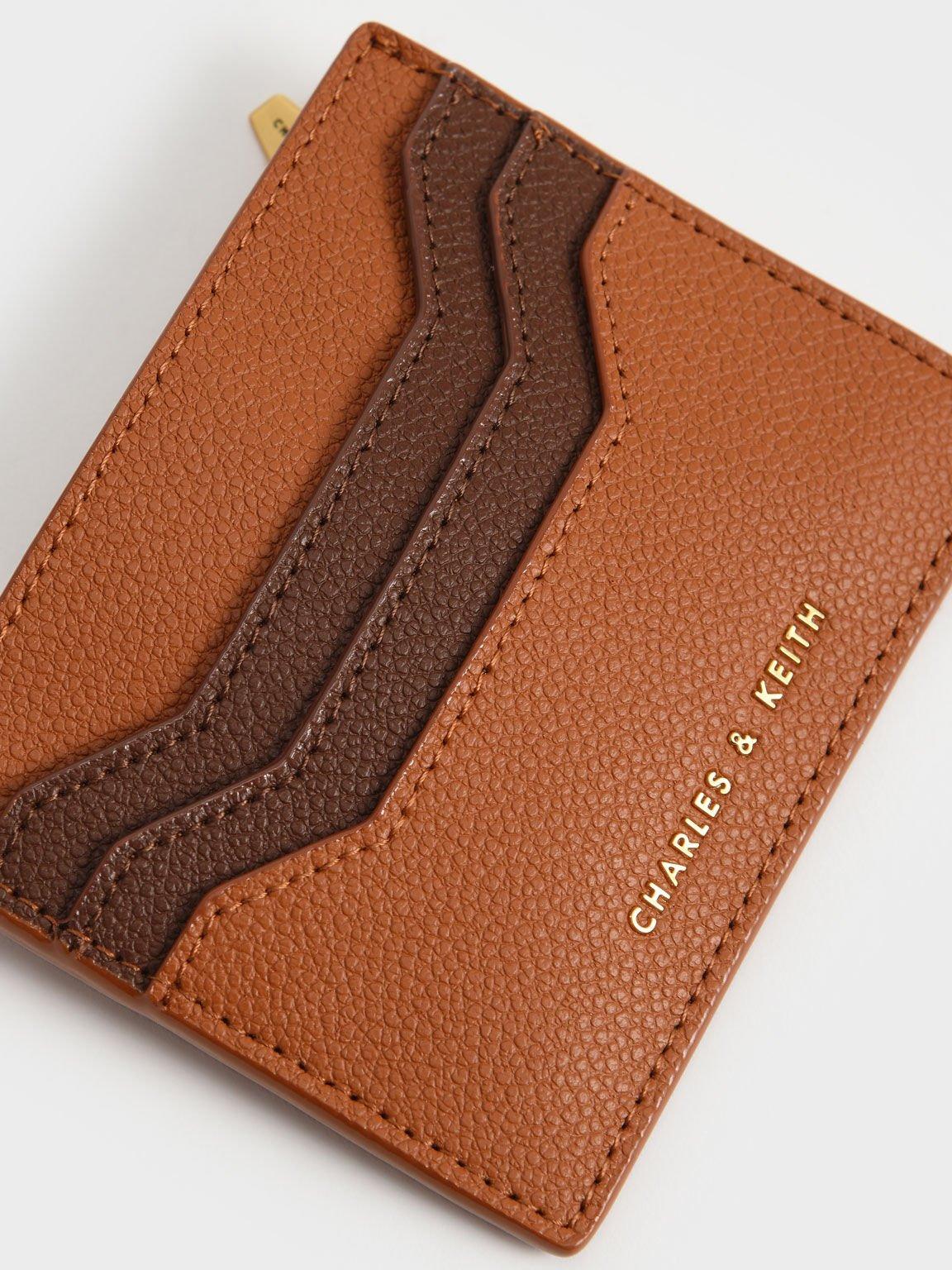 Multi-Slot Card Holder, Cognac, hi-res
