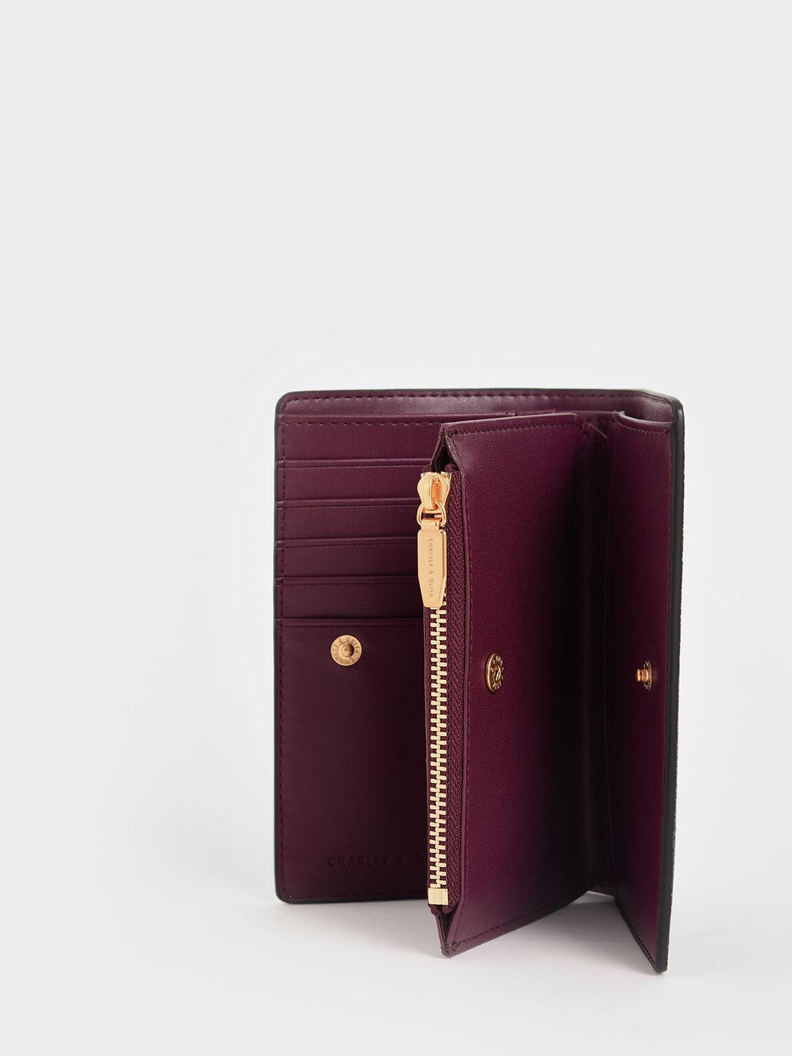 Snap-Button Mini Wallet, Black, hi-res