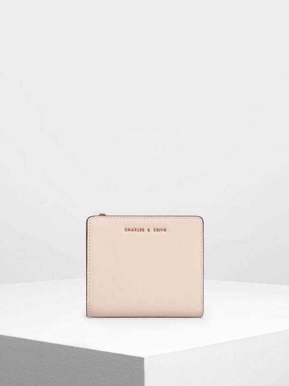 Classic Mini Snap Button Wallet, Light Pink, hi-res