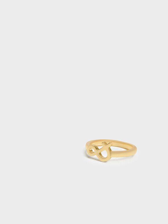 Ampersand Ring, Gold, hi-res