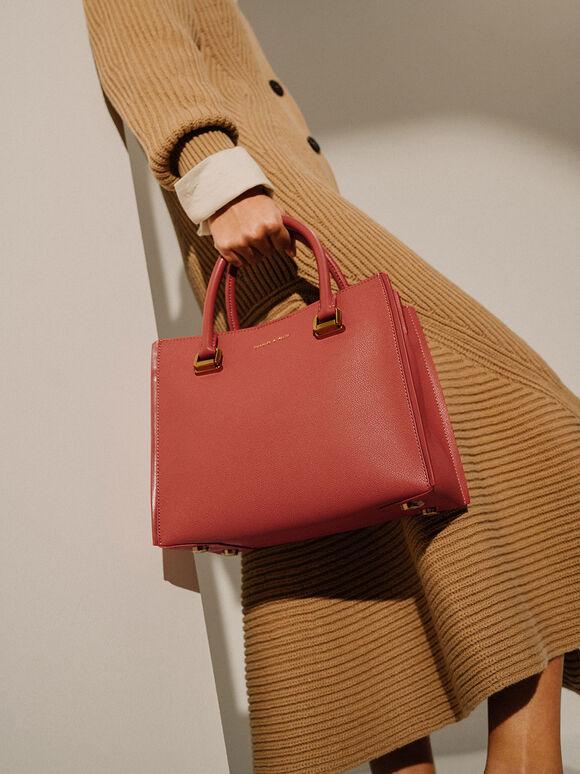 方形手提包, 土色, hi-res