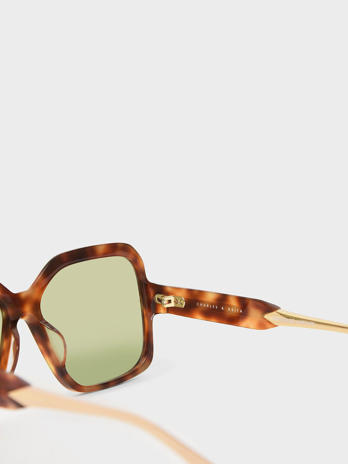 Tortoiseshell Oversized Square Sunglasses, T. Shell, hi-res