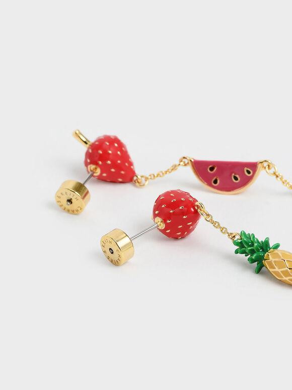Fruits Drop Earrings, Multi, hi-res