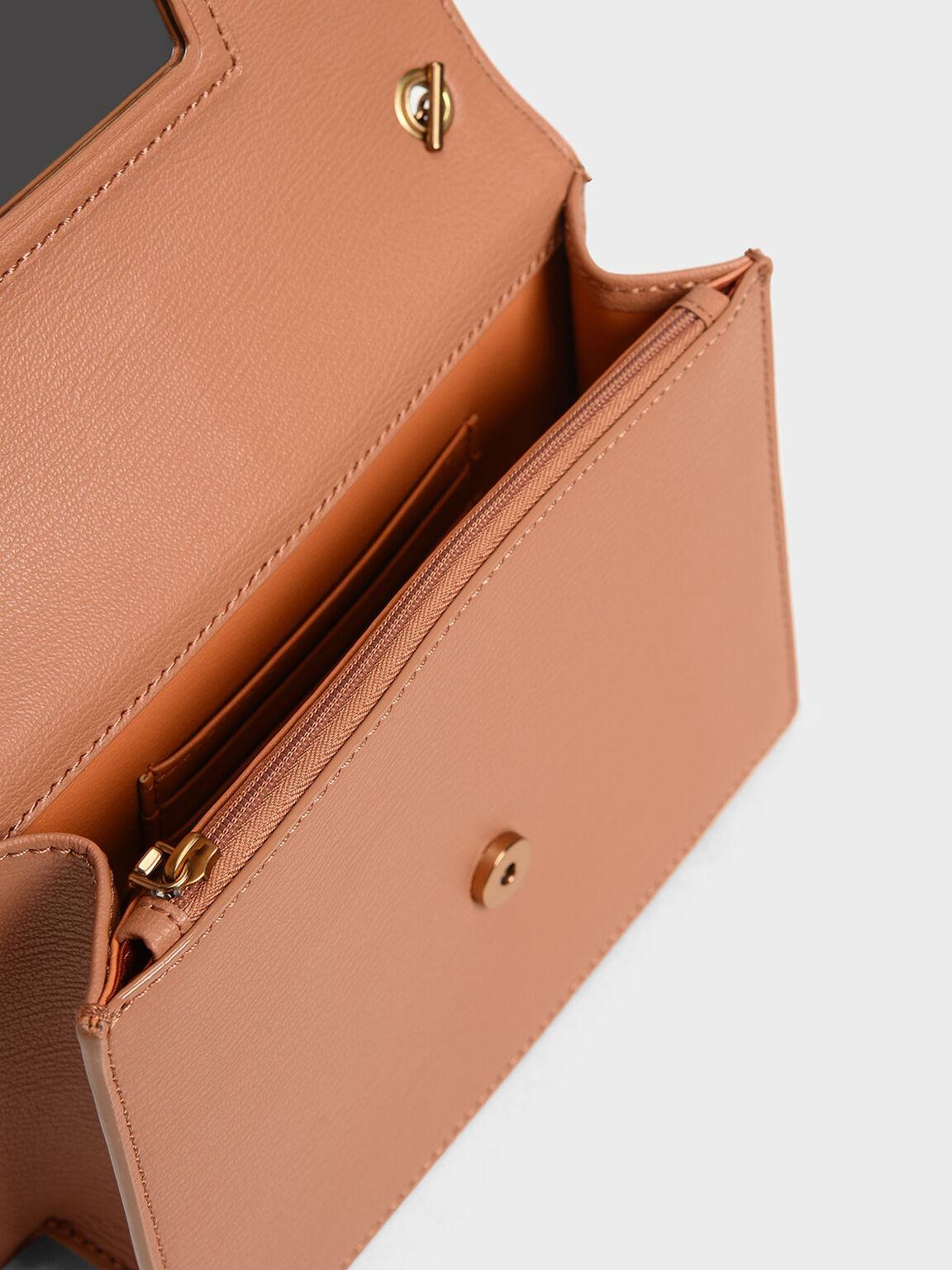 Tassel Shoulder Bag, Clay, hi-res