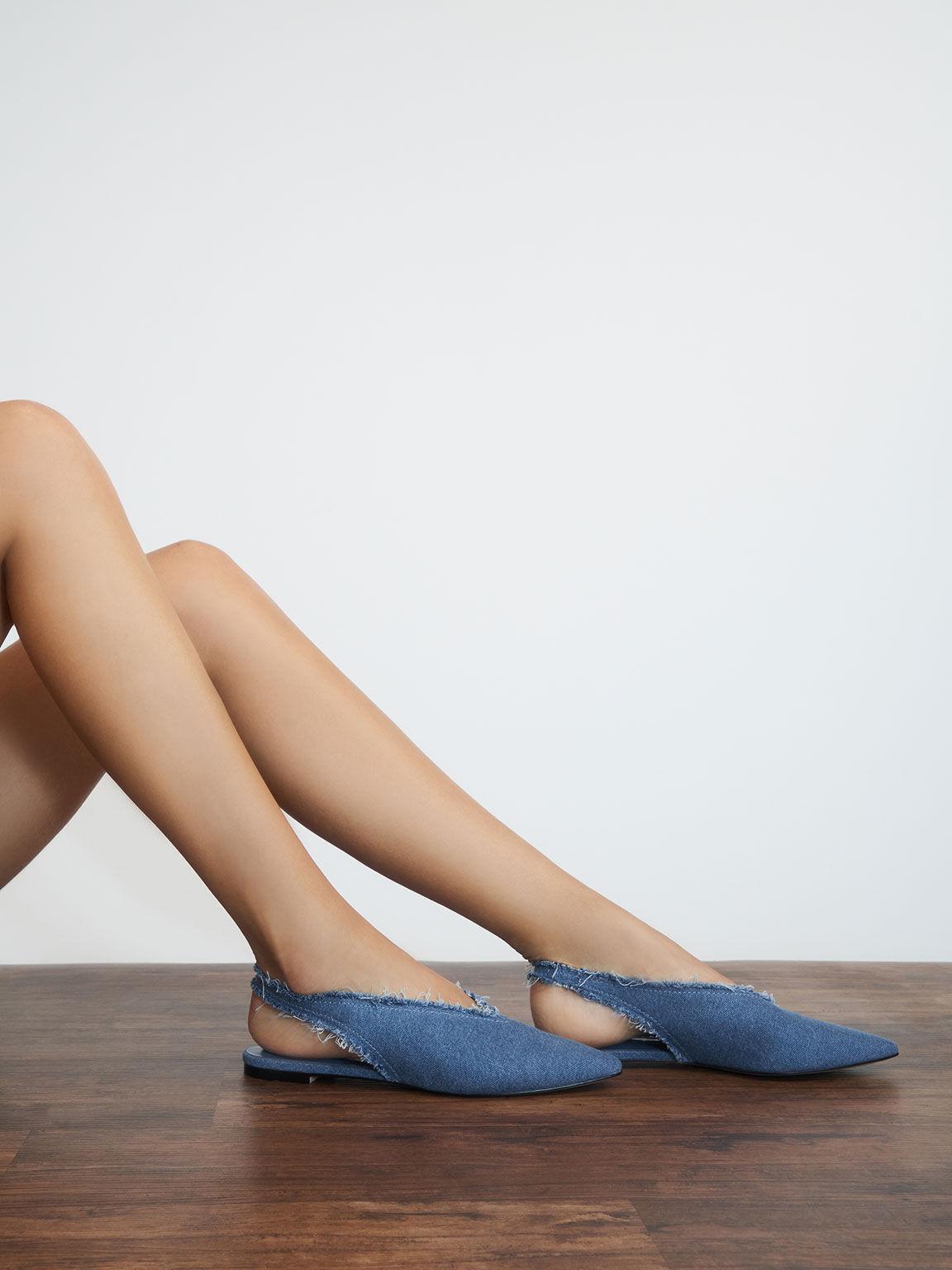 後踝帶尖頭鞋, 藍色, hi-res