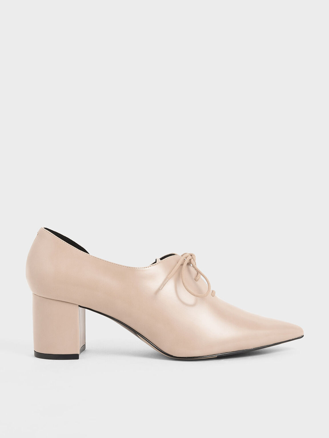 D'Orsay Oxford Block Heels, Nude, hi-res