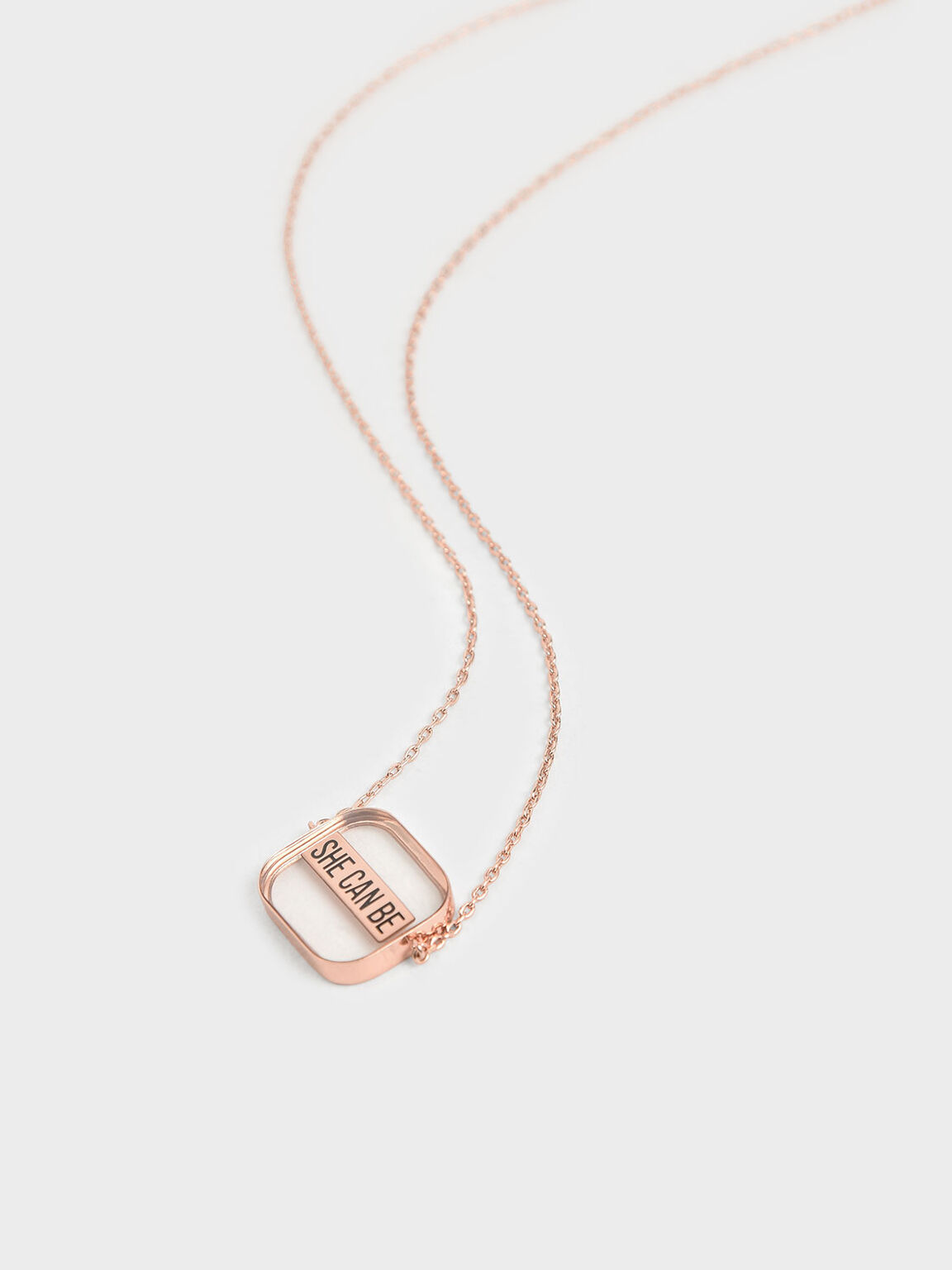 """She Can Be"" Necklace, Rose Gold, hi-res"
