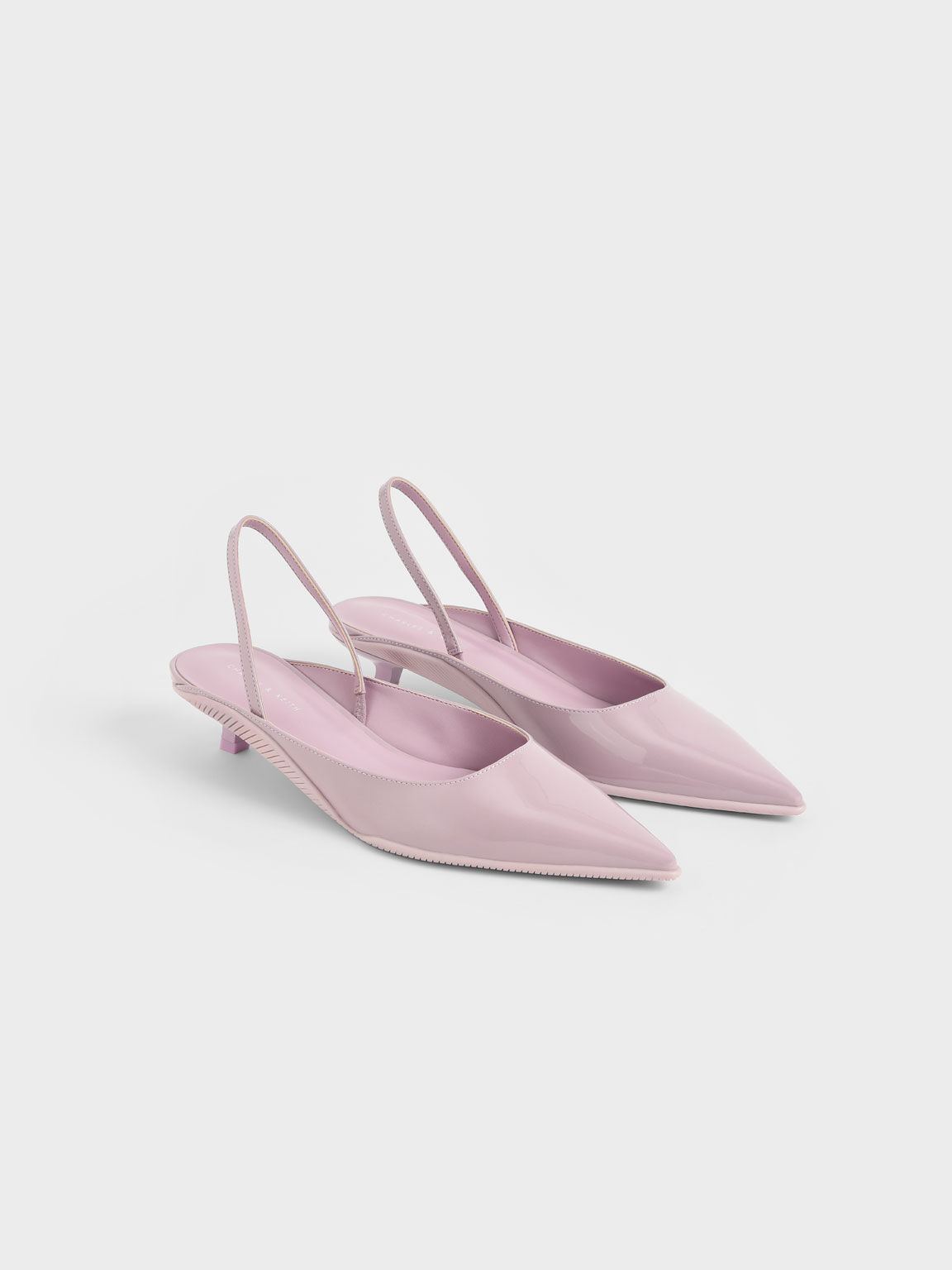 Patent Pointed Toe Slingback Pumps, Lilac, hi-res