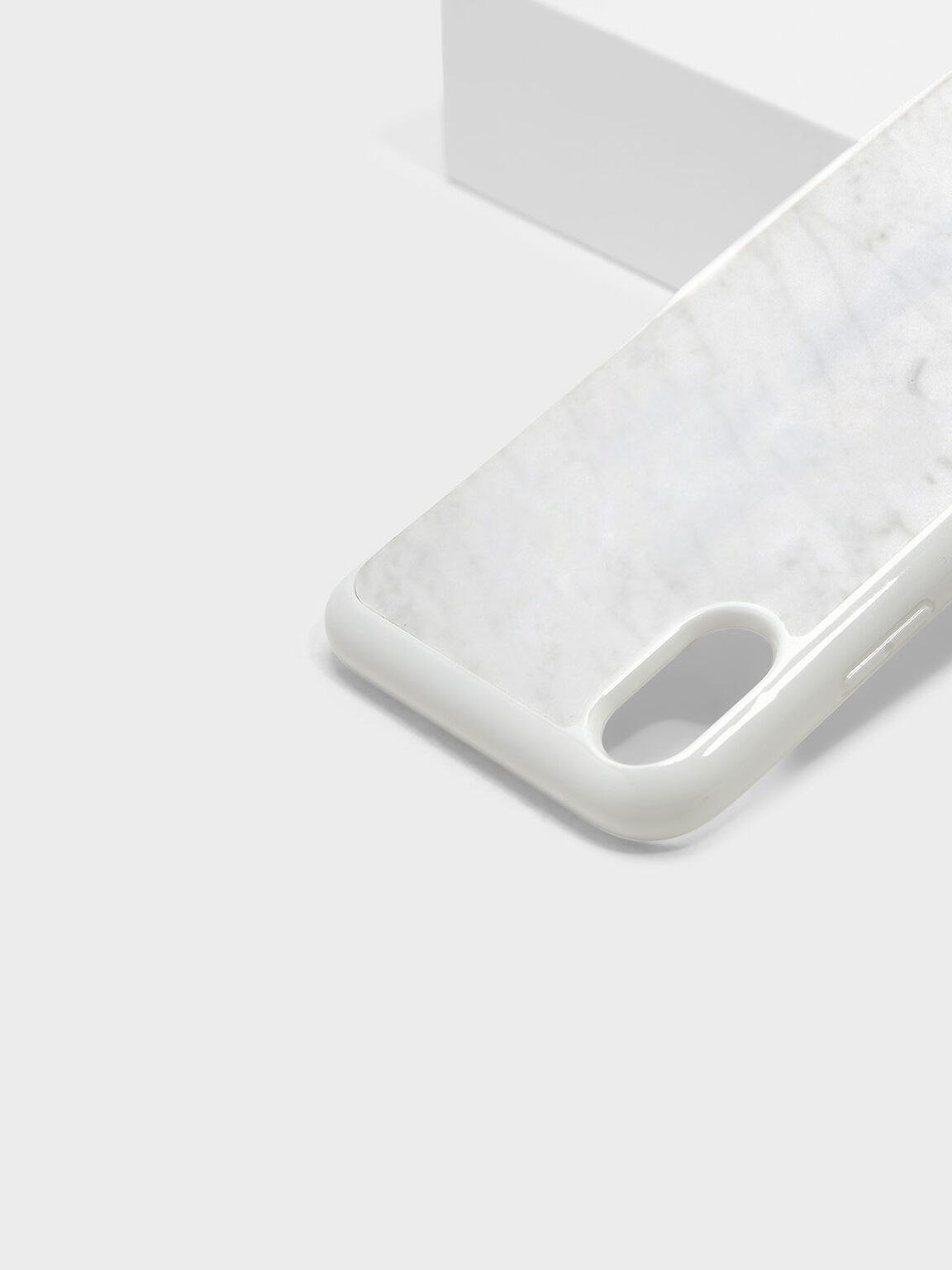iPhone X Marble Case, White, hi-res