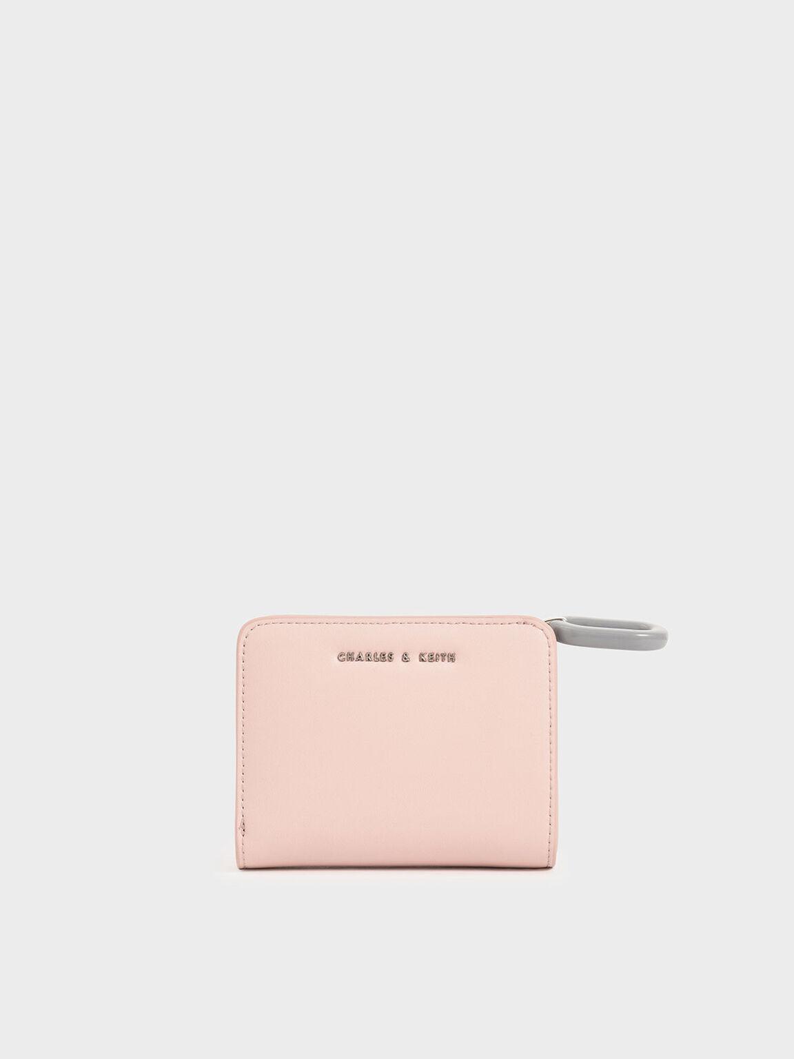 Mini Top Zip Small Wallet, Pink, hi-res