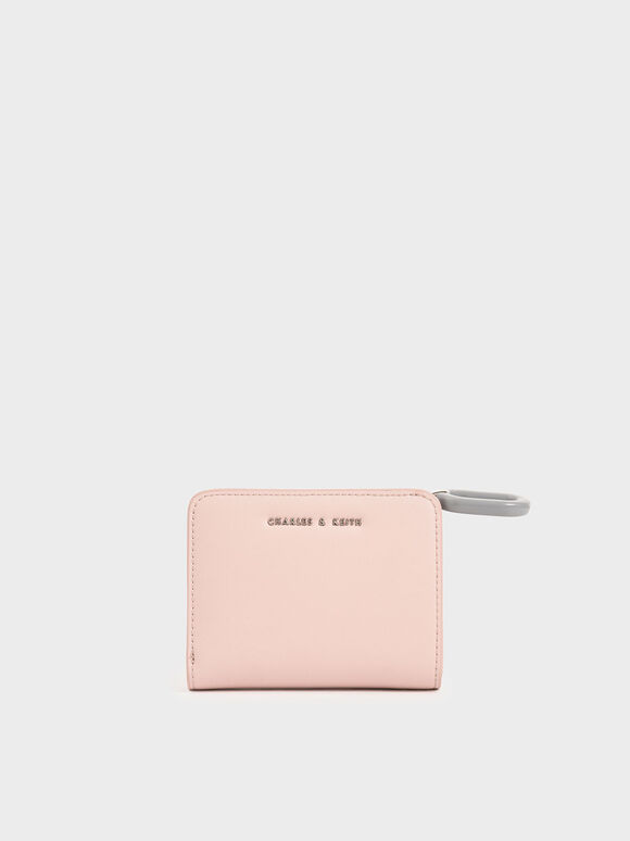 Mini Top Zip Small Wallet, Pink, hi-res