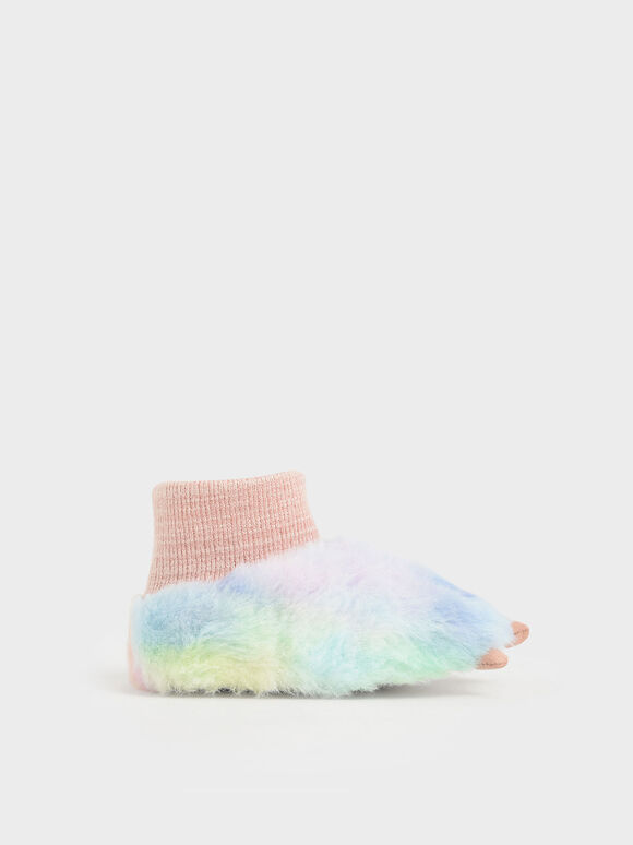 Girls' Textured Rainbow Bootie, Multi, hi-res