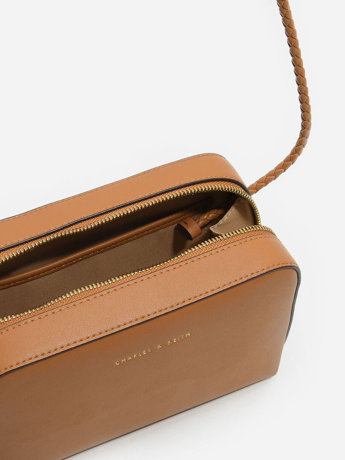 Tassel Sling Bag, Cognac, hi-res